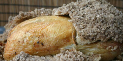 Sókéregben sült csirke édesköménnyel