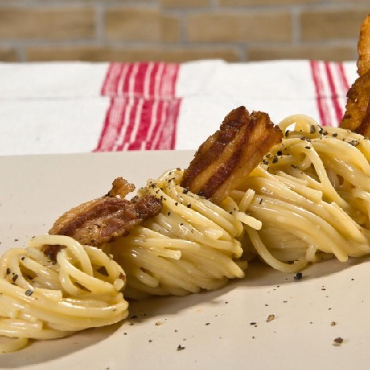 Spaghetti carbonara Imre konyhájából