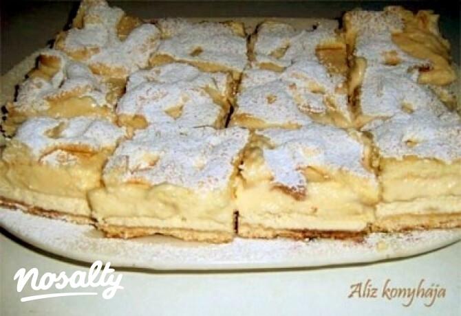 Ezen a képen: Krémes-túrós pite