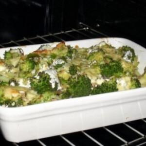 Rakott brokkoli - zabpelyhes