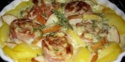 Burgonya-szűzpecsenye gratin gorgonzolával