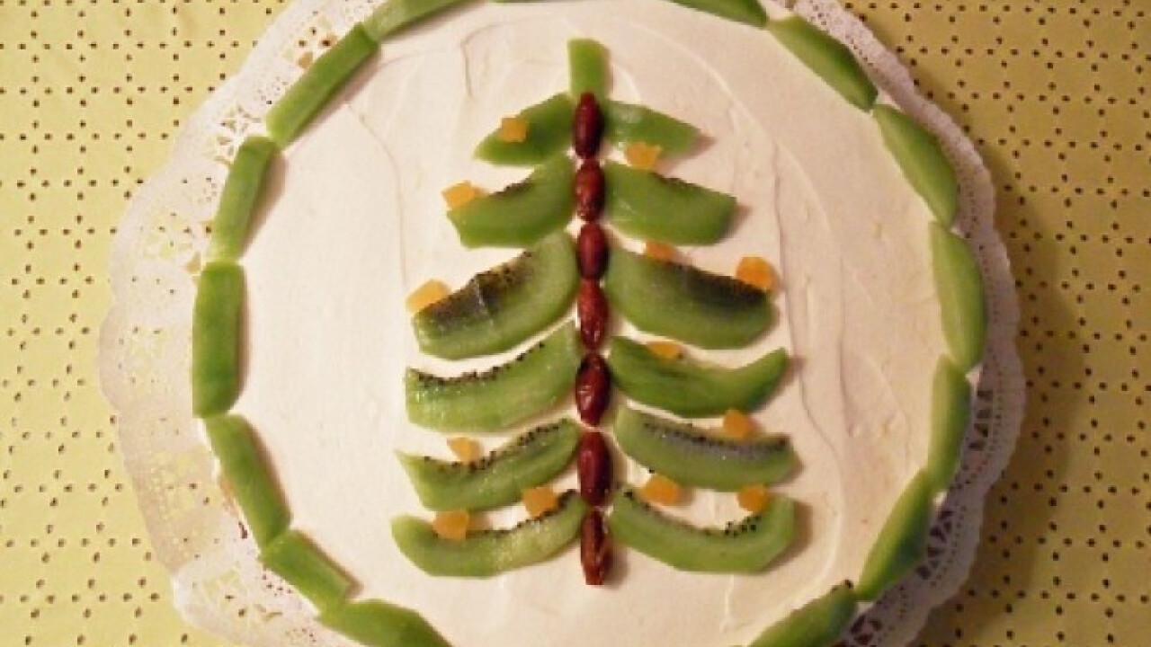 Citromos fenyőfás torta