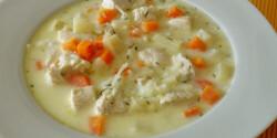 Kapros csirkebecsinált leves