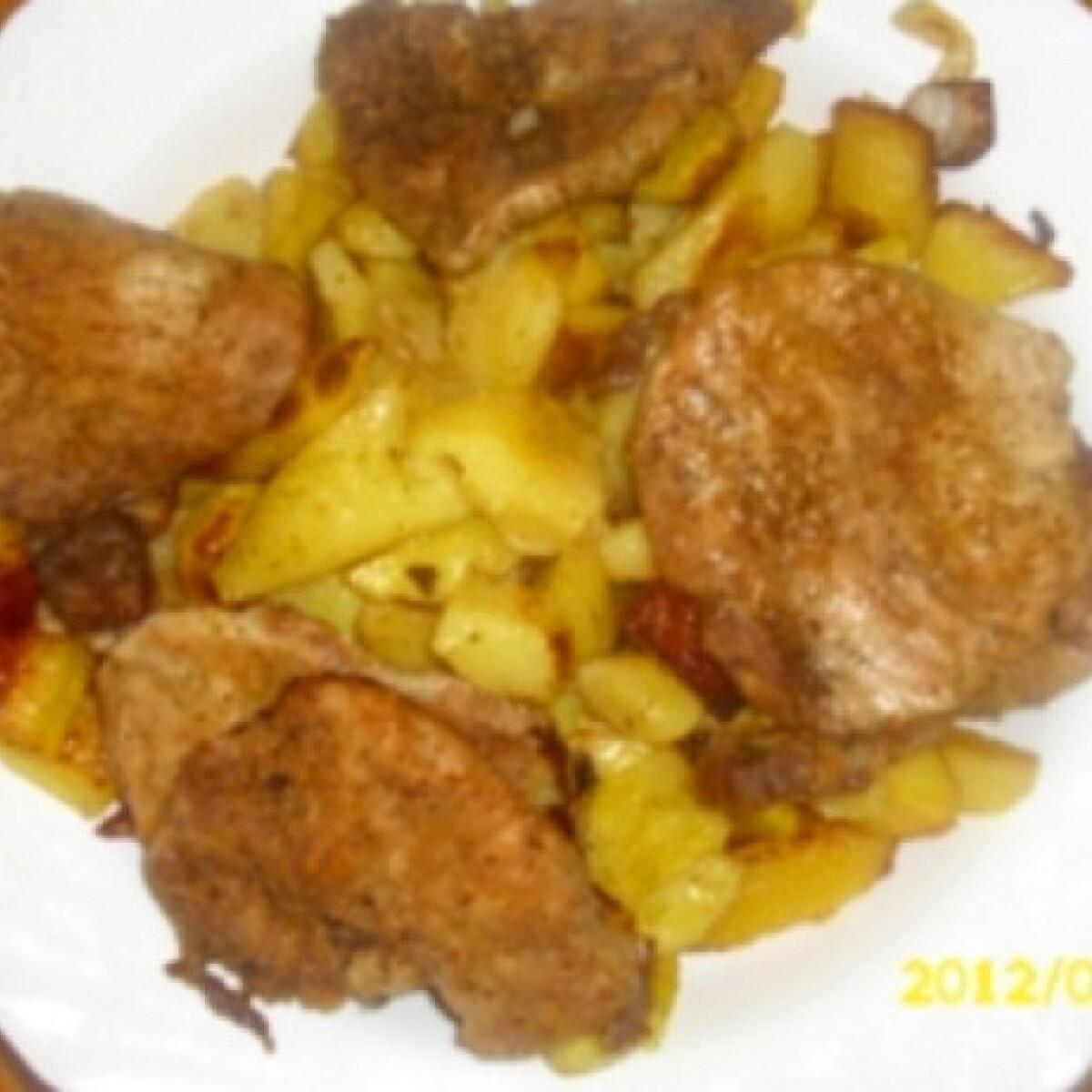 Ezen a képen: Tepsis krumpli ahogy kinguci készíti