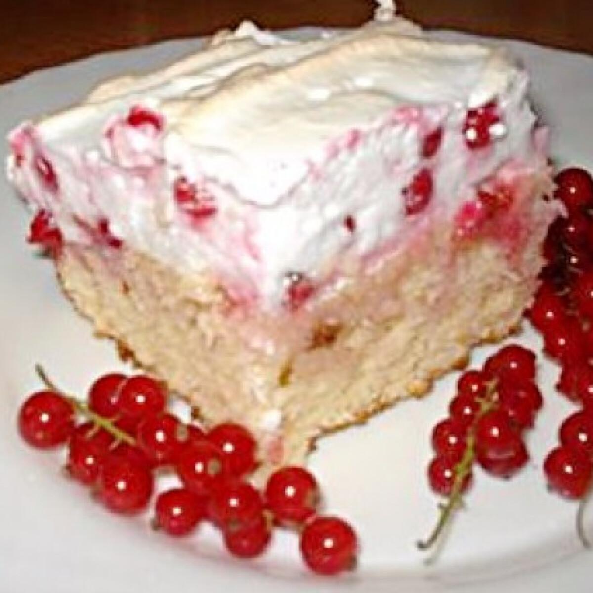 Ezen a képen: Ribizlis-cukorhabos süti