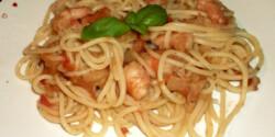 Garnélás spagetti