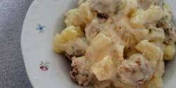 Karalábé-főzelék kapros húsgombóccal