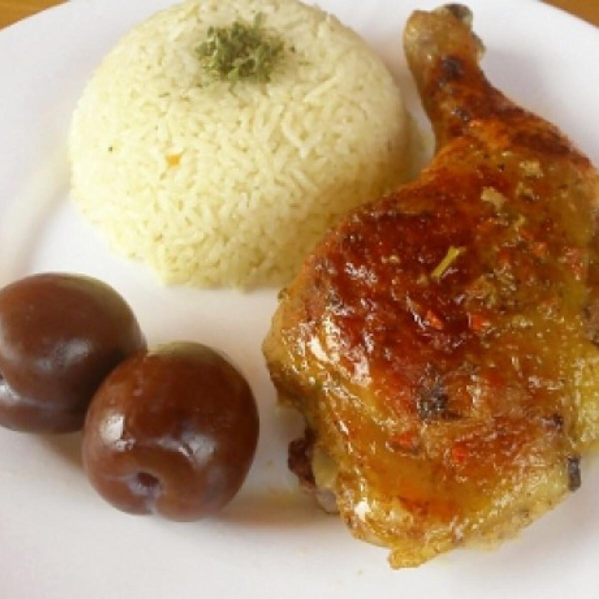 Töltött csirkecomb rizzsel és ecetes szilvával