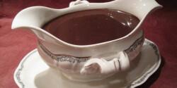Csokoládé öntet