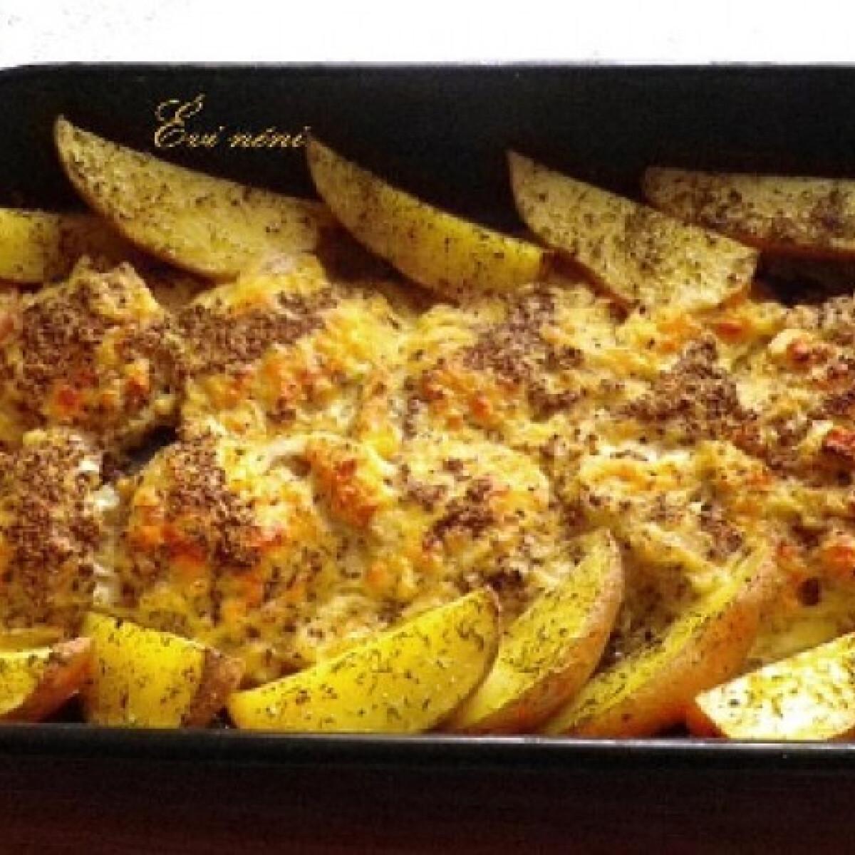Ezen a képen: Mustáros sajtos pulyka csőben sütve