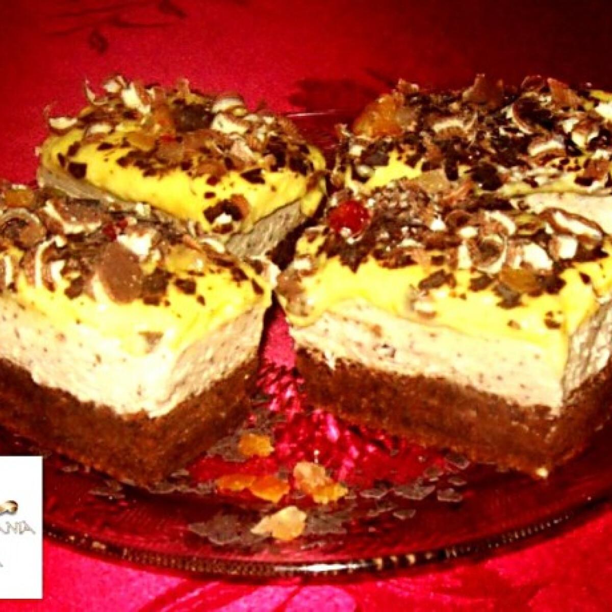 Ezen a képen: Csokis-gesztenyés vaníliás szelet