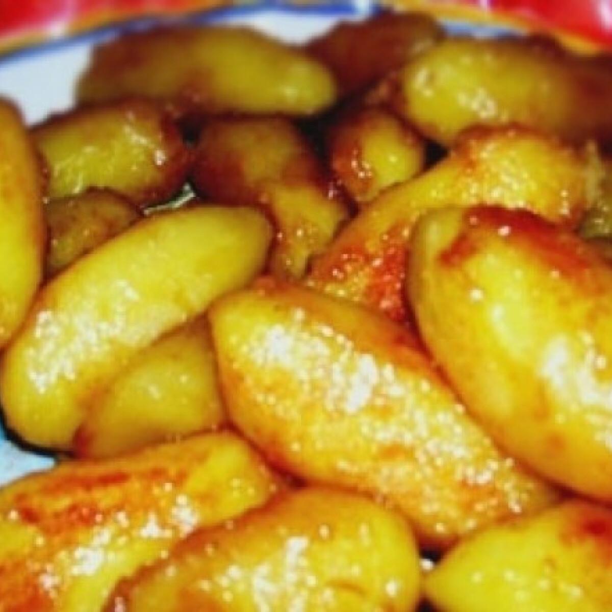 Ezen a képen: Karamellel sült krumpli