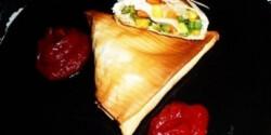 Zöldséges samoza-féle