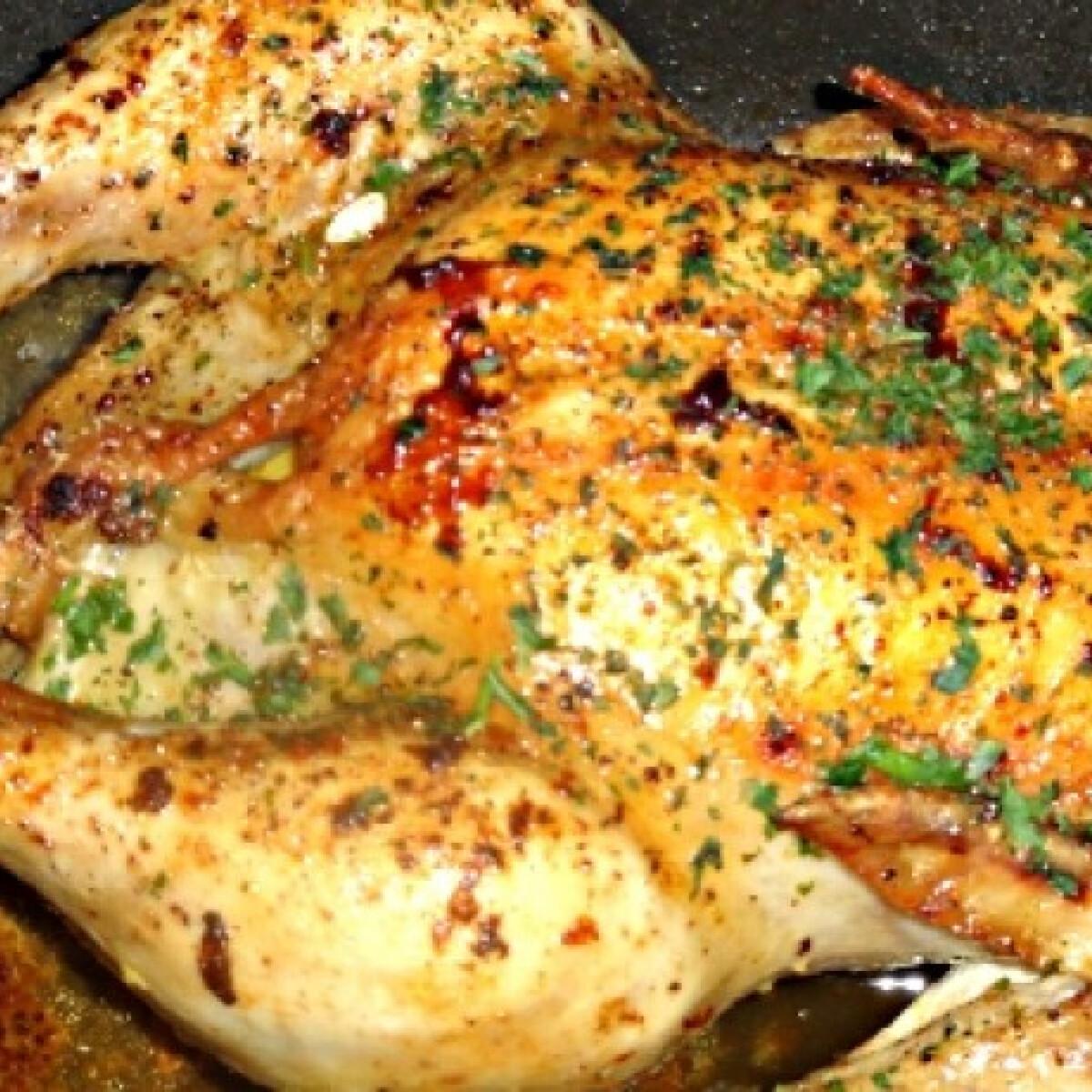 Ezen a képen: Citromos-petrezselymes sült csirke