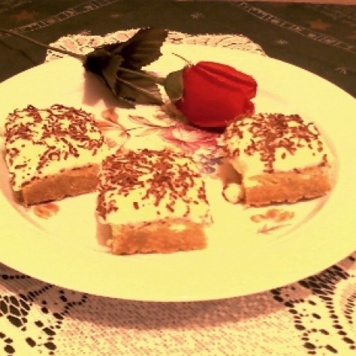 Ezen a képen: Túrós sütemény Irénce konyhájából