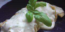Pikáns csirkés ravioli gorgonzola szószban