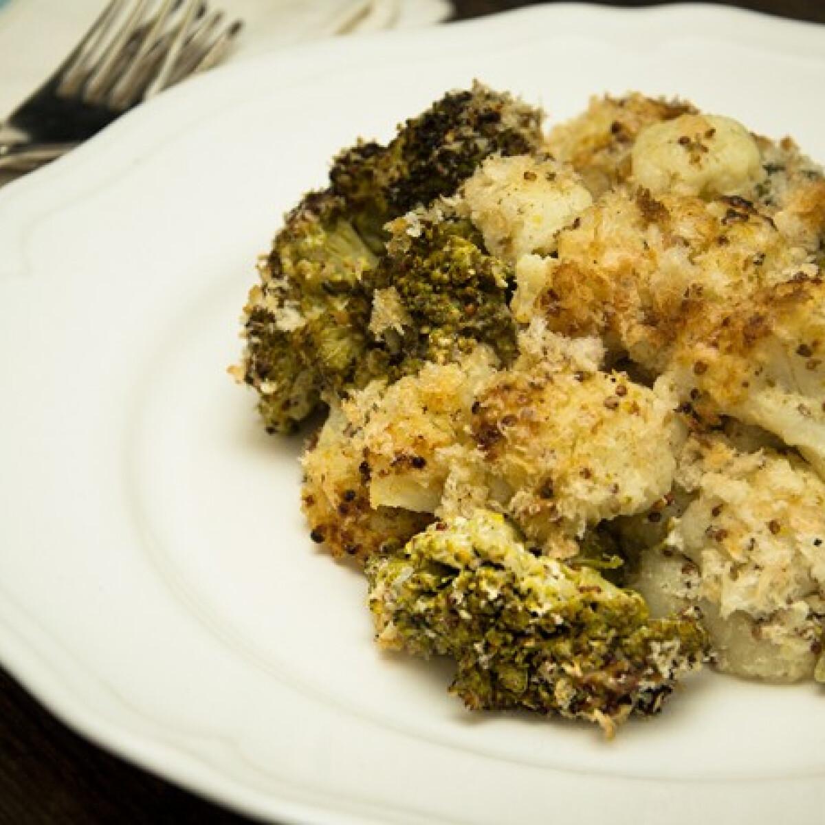 Ezen a képen: Krémes brokkoli-karfiol tál