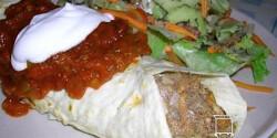 Mexikói csirkés burrito salsával
