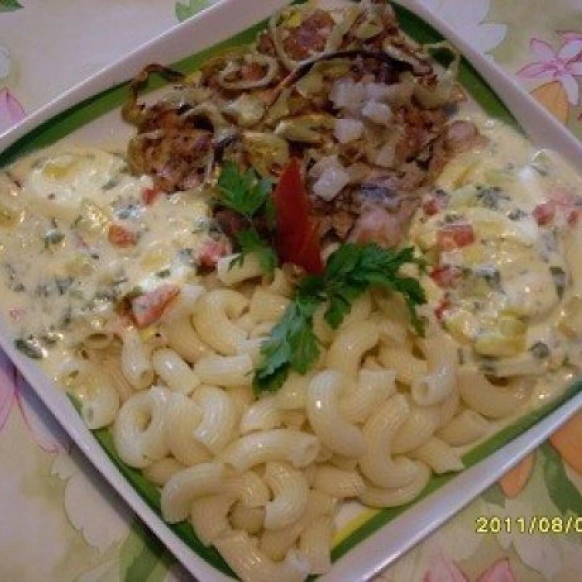 Ezen a képen: Párolt pulykahús zöldséges szósszal