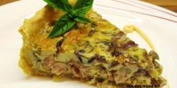 Csirkés-lilahagymás quiche