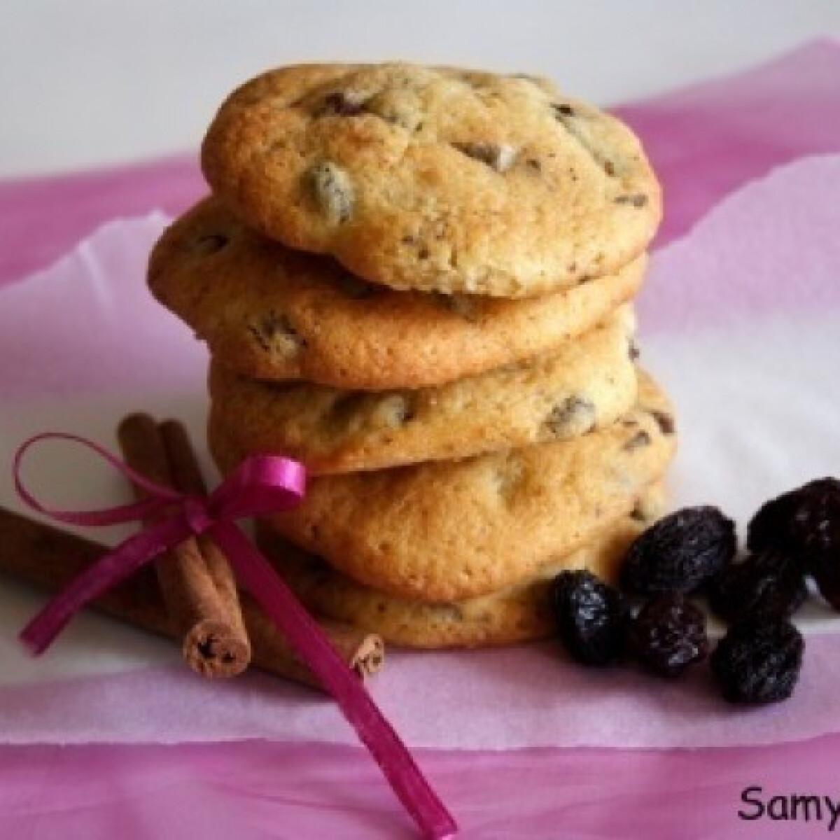 Fahéjas-mazsolás cookies