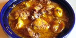 Marokkói csirke tagine-ban készítve