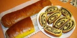 Bejgli mákos (kelt tésztából)