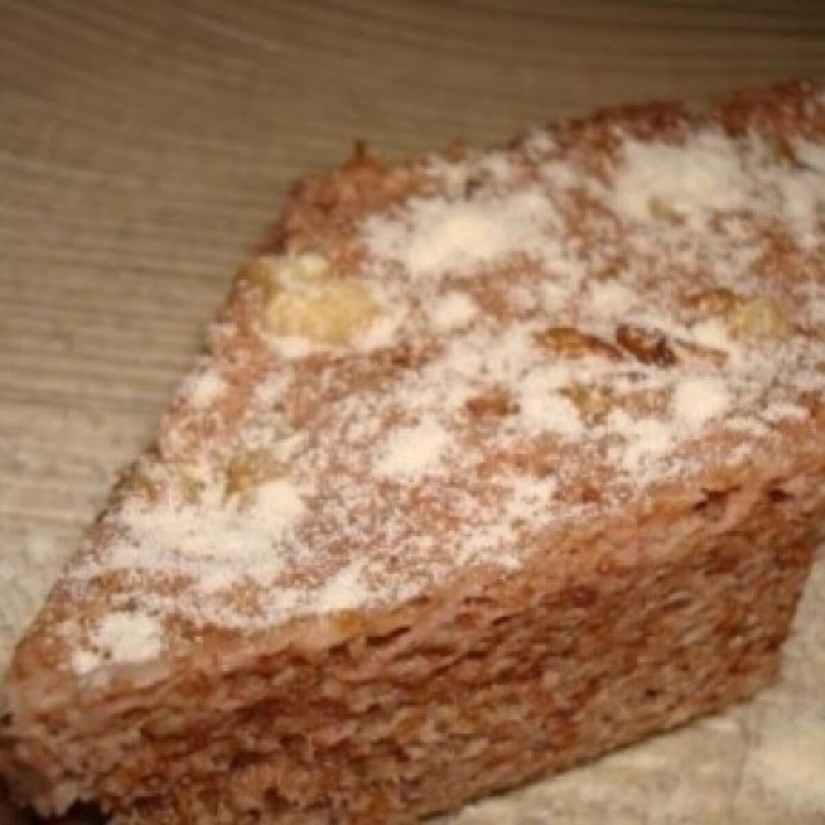 Mikrós diós süti