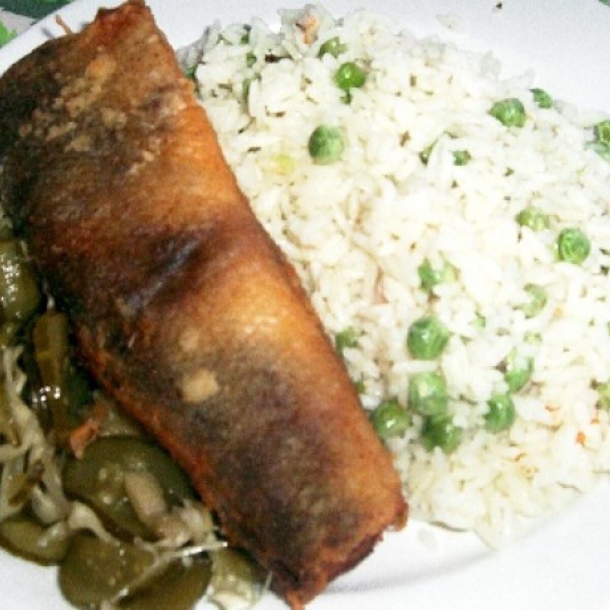 Sült hekk zöldséges rizzsel