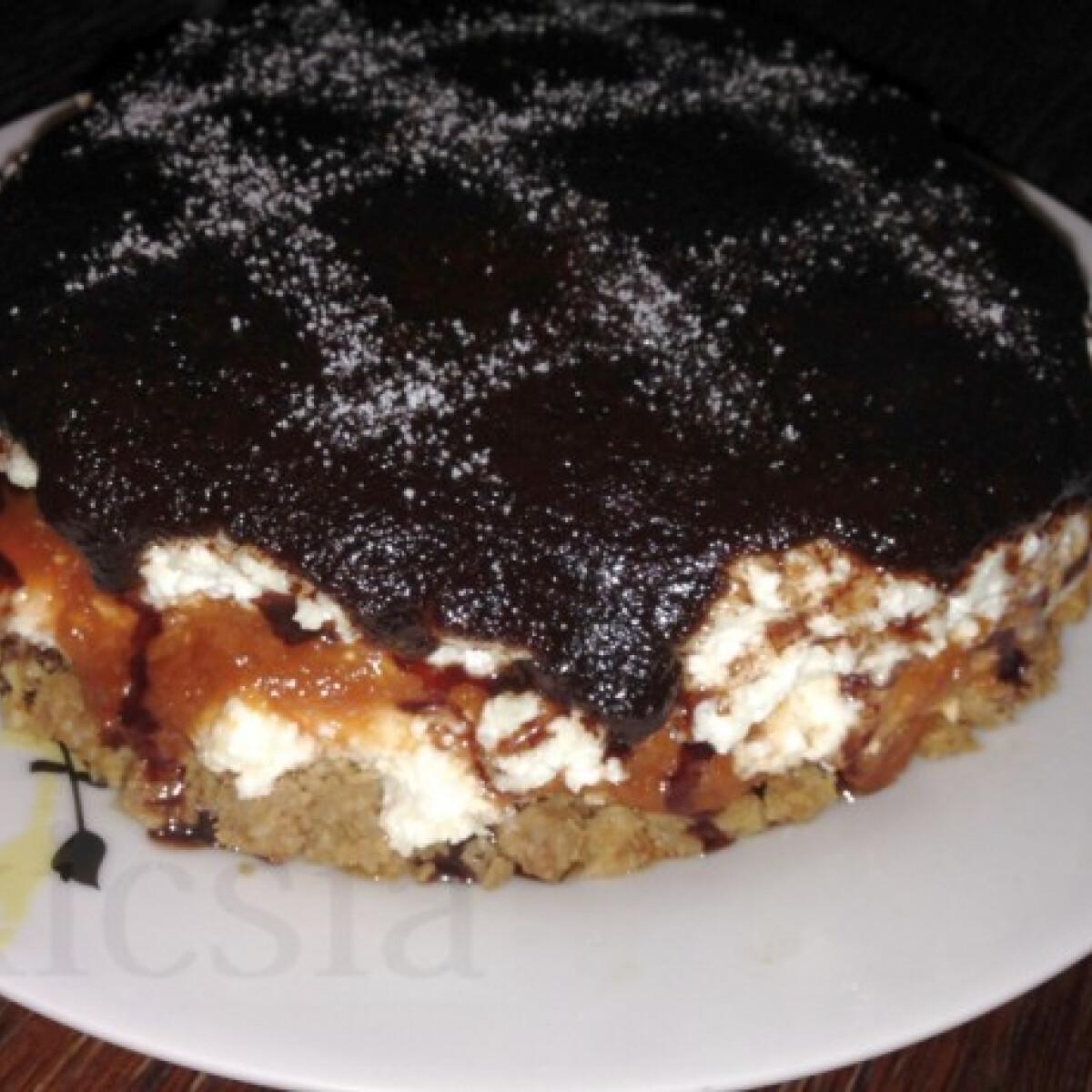 Ezen a képen: Túrótorta sütés nélkül ahogy kicsia készíti