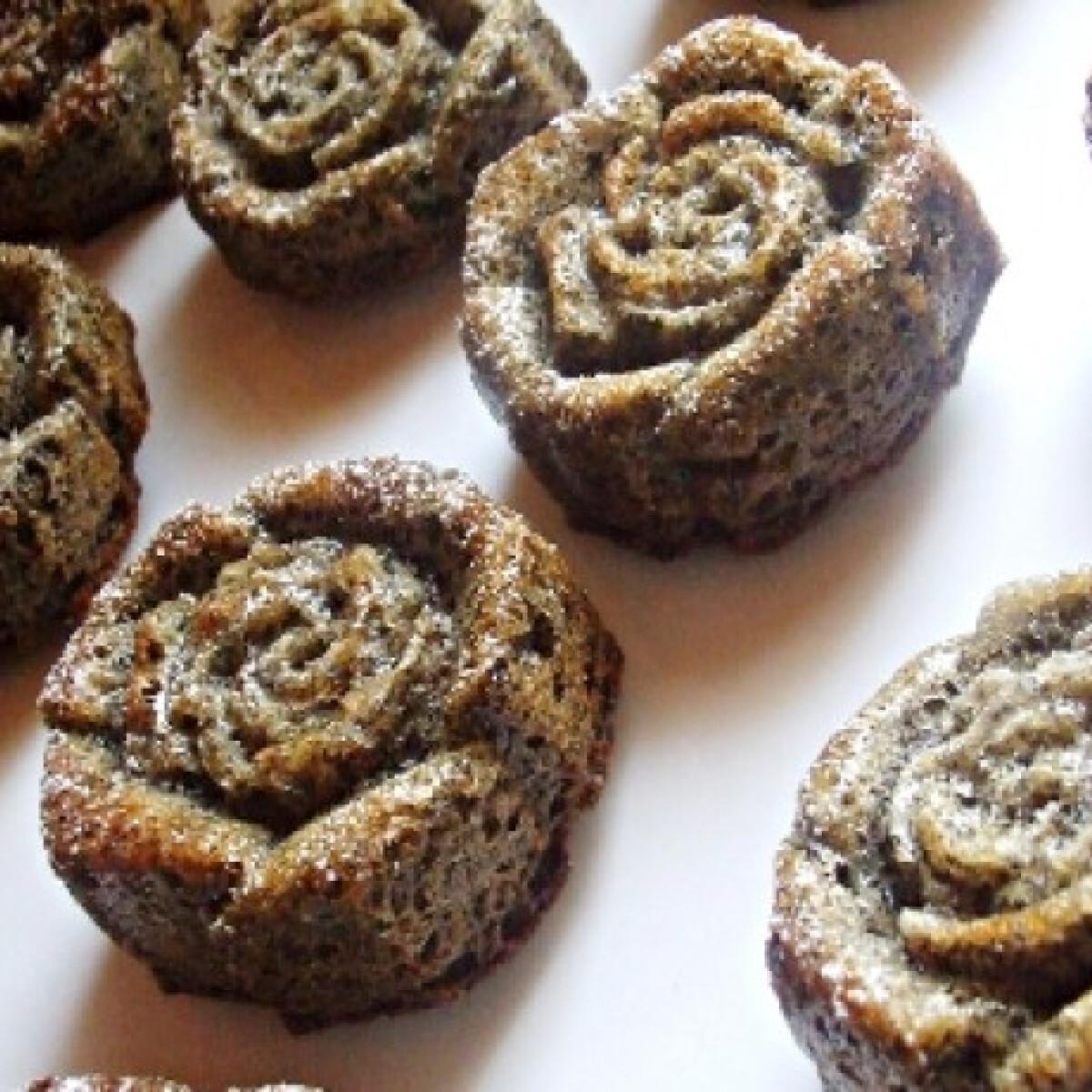 Fekete rózsa muffin