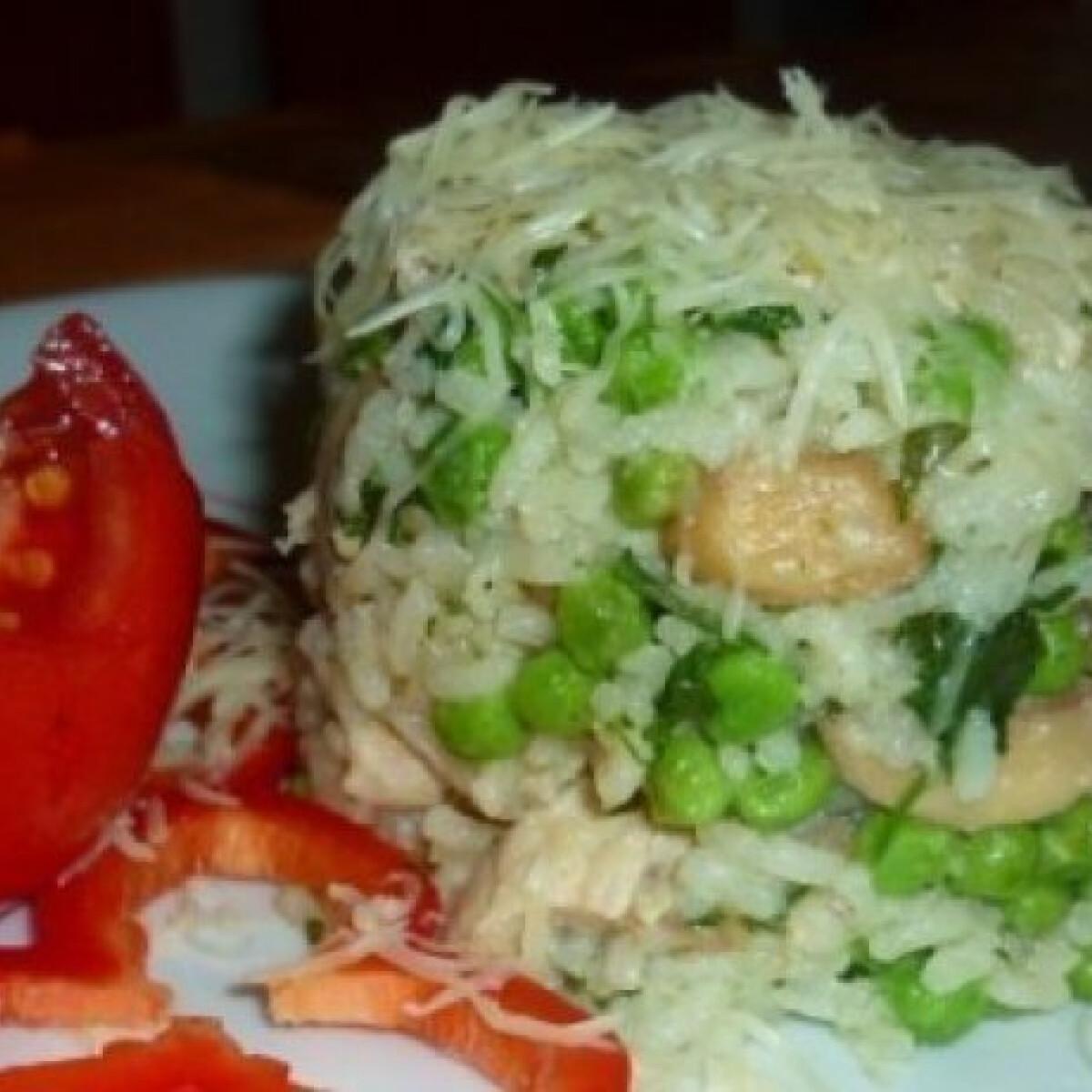 Zöldséges rizottó csirkemellel