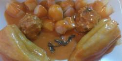 Töltött paprika főtt krumplival