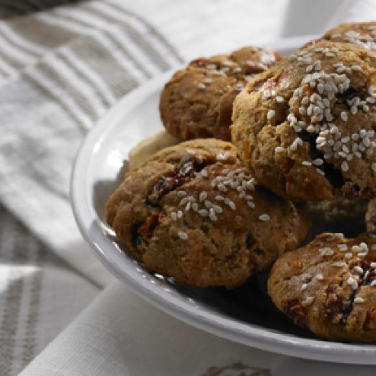 Szárított paradicsomos és parmezános cookie