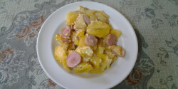 Mustáros-virslis burgonya