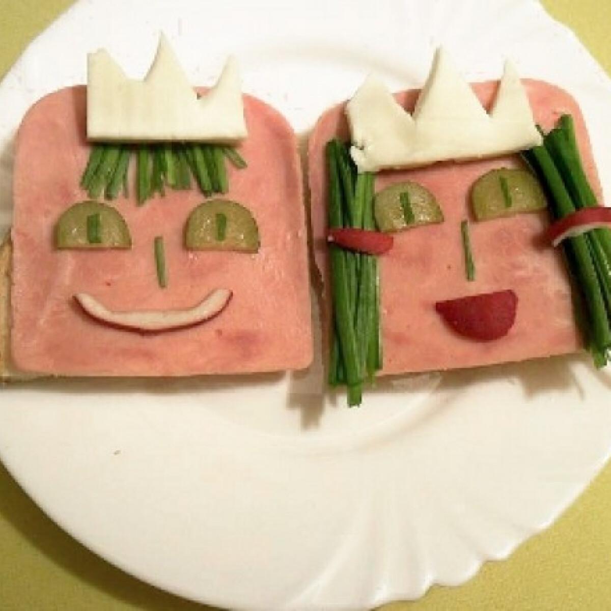 Ezen a képen: Királyfi és királylány szendvics