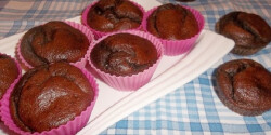 Kakaós muffin vaj és cukor nélkül