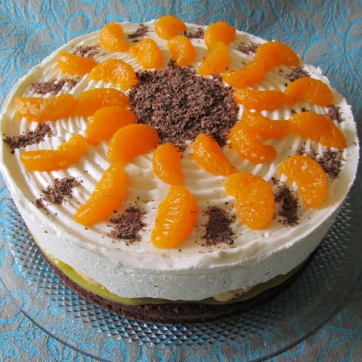 Ezen a képen: Narancstorta mascarpone-val