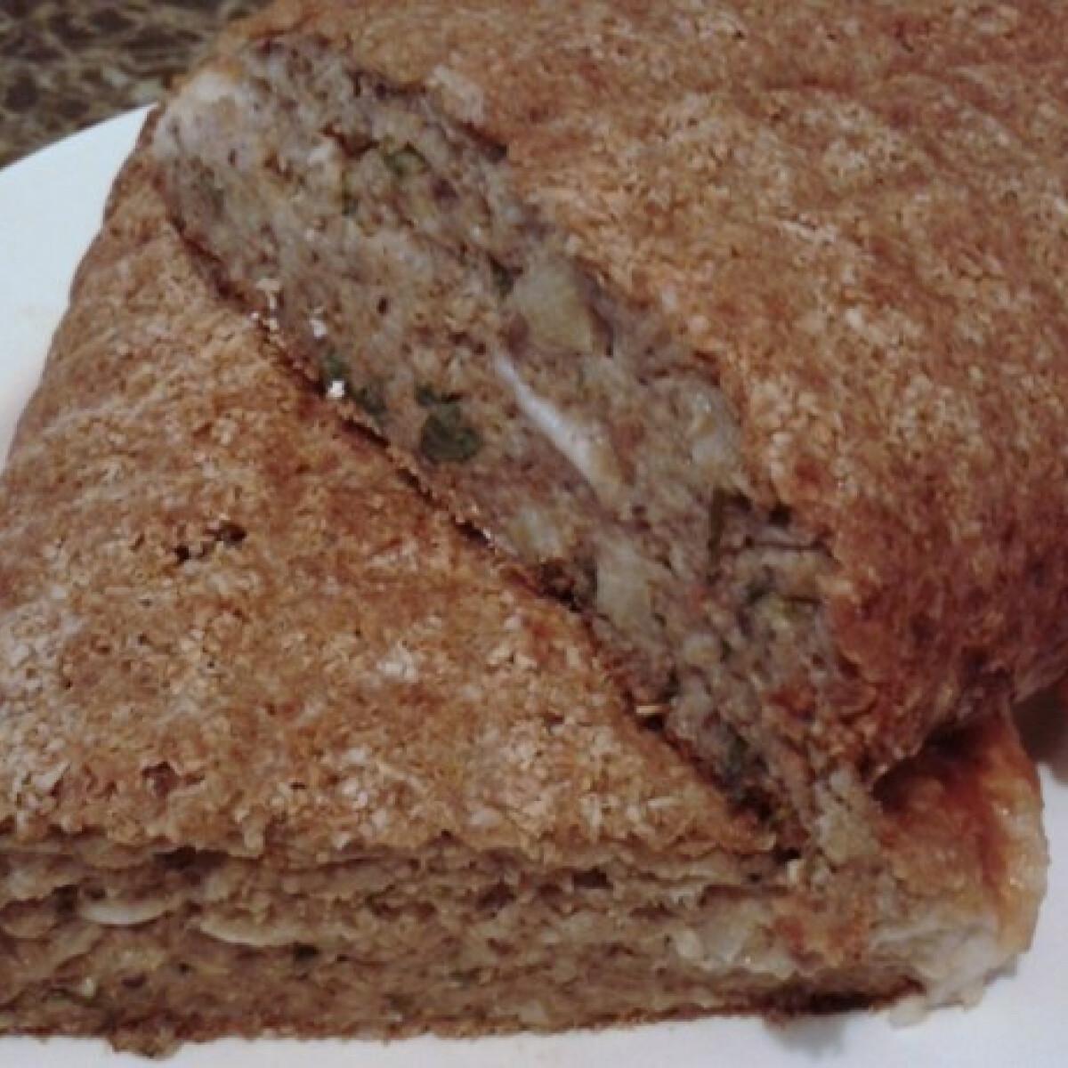 Ezen a képen: Egyben sült mozzarellás gombavagdalt