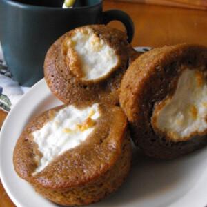 Kávés muffin túrósapkával