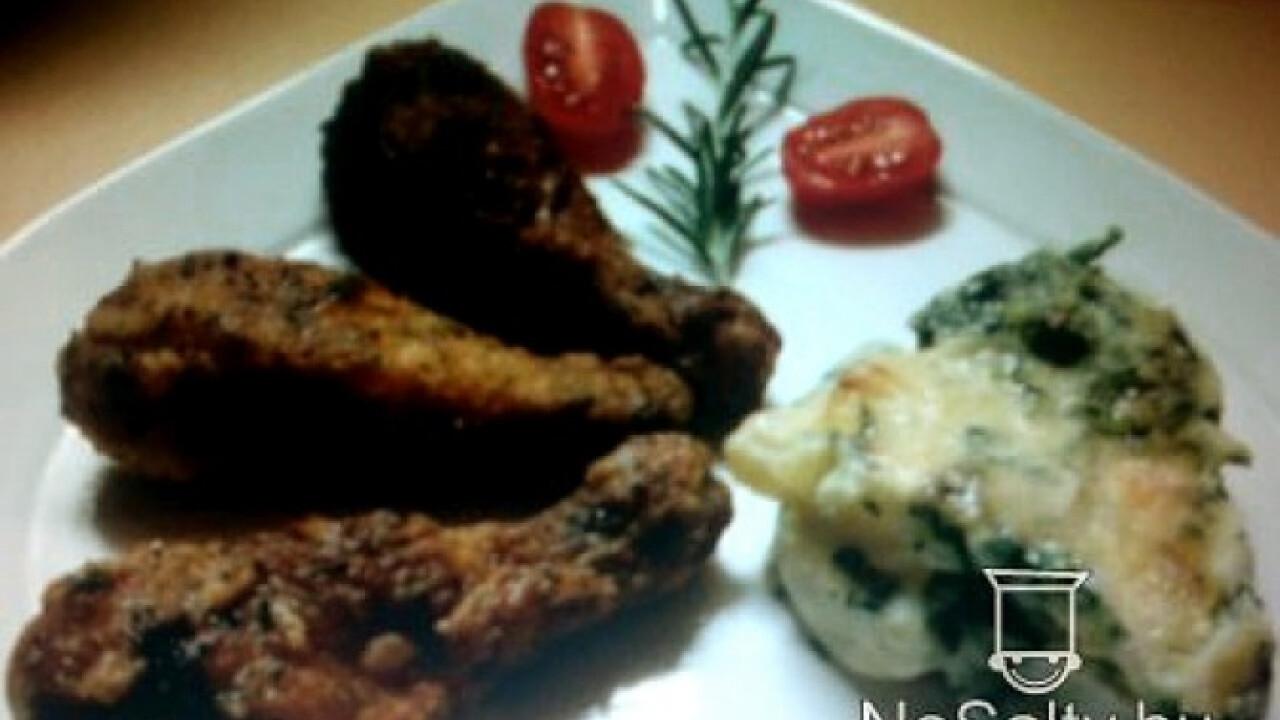 Csirkecomb fűszeres panírban