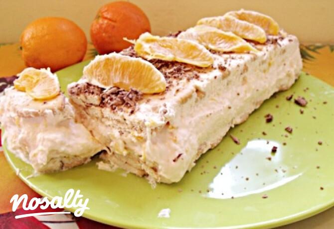 Narancsos tejfölös keksztorta - Nosalty