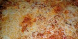 Gombás - sonkás pizza