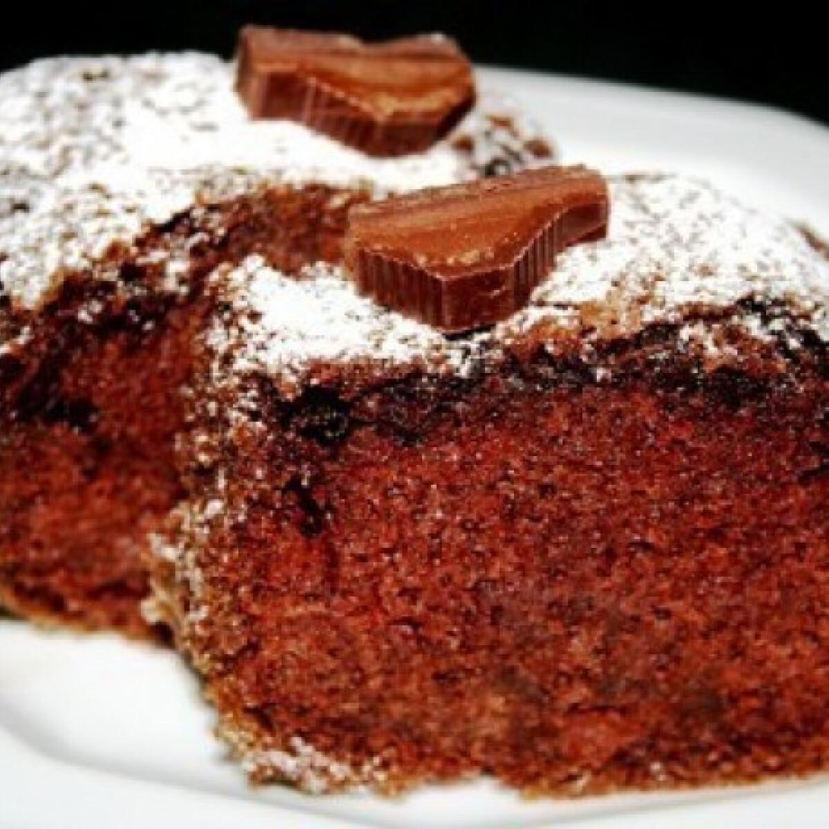 Vörösboros-trüffelcsokis sütemény