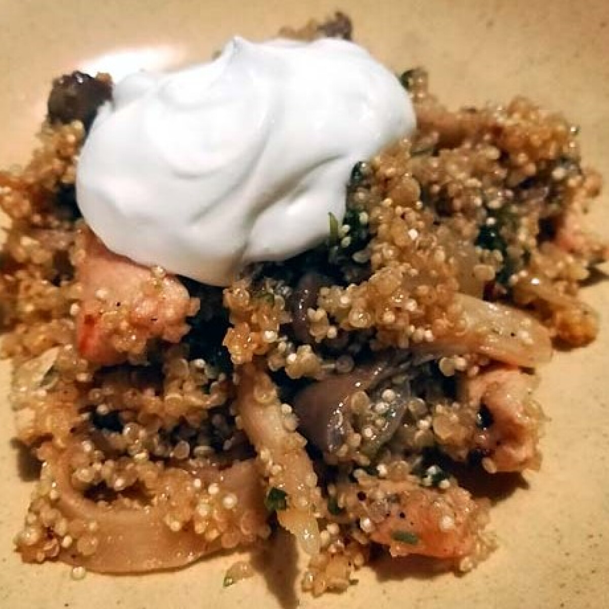 Ezen a képen: Laskagombás quinoa