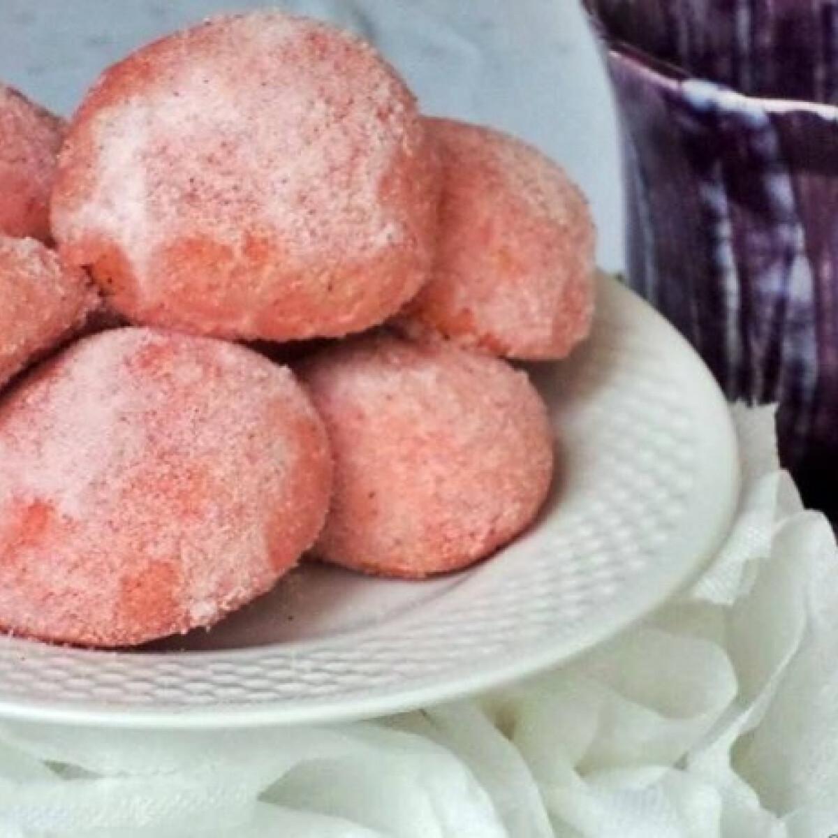 Ezen a képen: Pink citromos teasüti