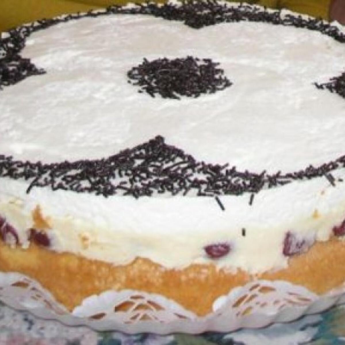 Ezen a képen: Meggyes-tejszínes torta morvaiii konyhájából