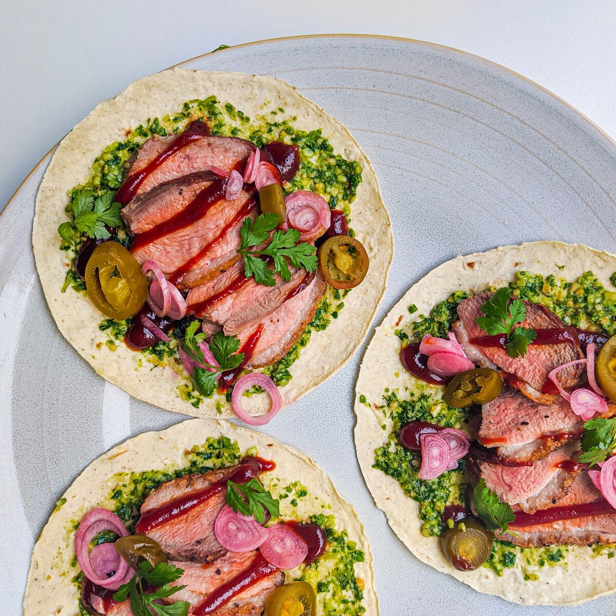 Ezen a képen: Kacsamell taco