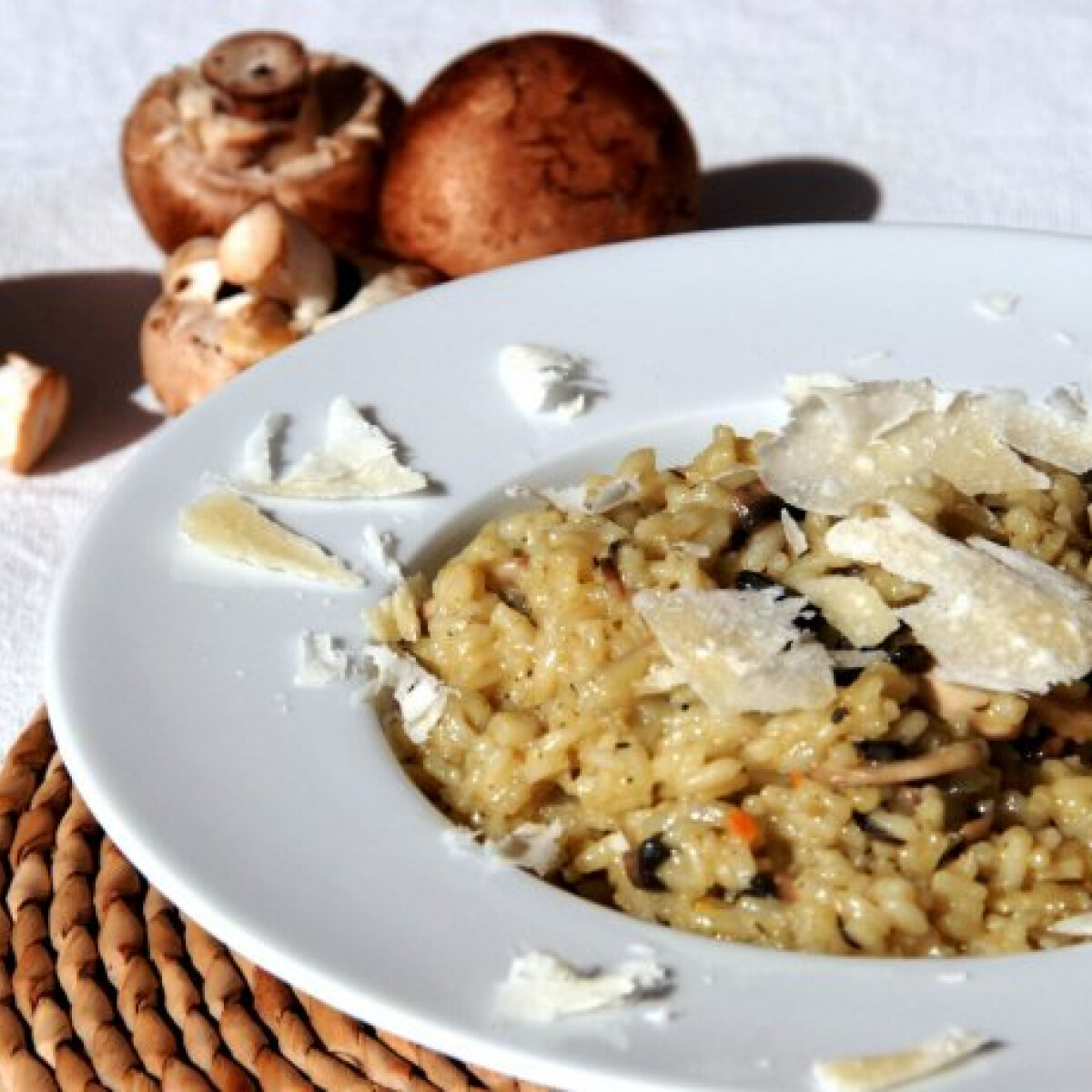 Ezen a képen: Erdei gombás rizottó Ágica konyhájából