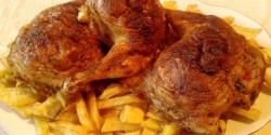 Töltött csirkecombok Konyhatündérkétől